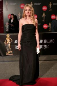 Carolina Crescentini at the David di Donatello Movie Awards.