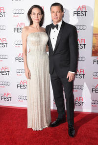 Angelina Jolie Pitt and Brad Pitt at the California premiere of