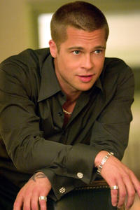 Brad Pitt on the set of