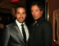 Jeremy Piven and Bruce Springsteen at the Tom Ford's party celebrating Marilyn Minter and her Monograph at Gucci.