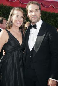 Jeremy Piven and guest at the 59th Annual Primetime Emmy Awards.