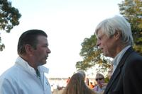 George Plimpton and Alec Baldwin at the Boys and Girls Harbor 23rd Annual Fireworks Picnic.