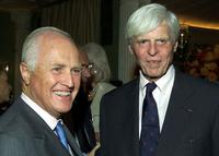 George Plimpton and Winston Churchill at CNBC's announcement of two primetime specials,