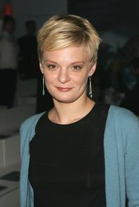 Martha Plimpton at the Cynthia Rowley Fall 2005 show.
