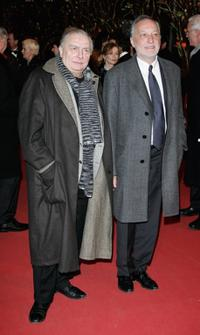 Director Claude Chabrol and Francois Berleand at the premiere of