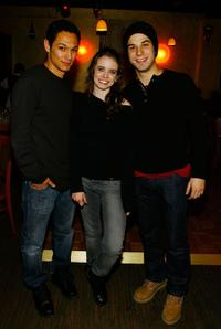 Michael Esparza, Phoebe Strole and Skylar Astin at the 2008 Sundance Film Festival.