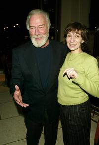 Christopher Plummer and Amanda Plummer at the after party of