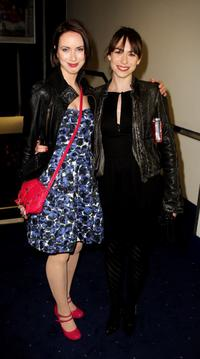 Kate O'Flynn and Caroline Martin at the UK premiere of