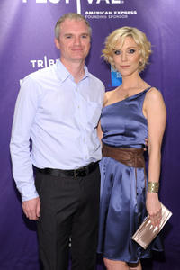 Director James Westby and Katie O'Grady at the premiere of
