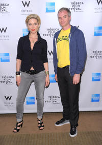 Katie O'Grady and director James at the Tribeca Film Festival Awards in New York.