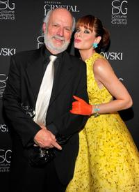 James Burrows and Debra Messing at the 11th Annual Costume Designers Guild Awards.