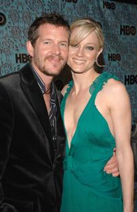 Teri Polo and guest at the HBO Emmy after party.