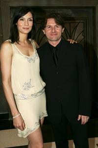 Famke Janssen and John Polson at the Australian premiere of