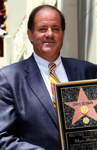 Chris Berman at the Hollywood Walk of Fame in California.