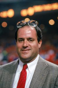 Chris Berman at the game with the New York Giants against the San Francisco 49ers.