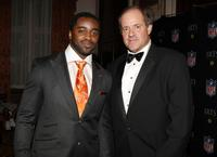Curtis Martin and Chris Berman at the IRTS Gold Metal Award Gala.
