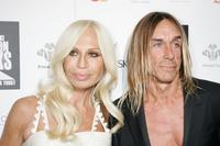 Donatella Versace and Iggy Pop at the Swarovski Fashion Rocks concert.