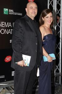 Maurizio Crozza and Carla Signoris at the David di Donatello Movie Awards.