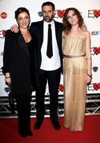 Carla Signoris, Fausto Brizzi and Cristiana Capotondi at the Milan premiere of