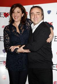 Carla Signoris and Silvio Orlando at the Milan photocall of