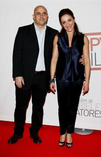 Maurizio Crozza and Carla Signoris at the premiere of