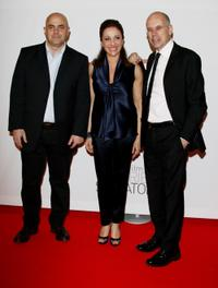 Maurizio Crozza, Carla Signoris and Gabriele Salvatores at the premiere of