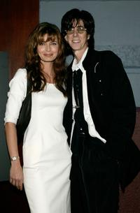 Paulina Porizkova and Ric Ocasek at the launch of
