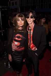 Paulina Porizkova and Ric Ocasek at the MTV 20th Anniversary party.
