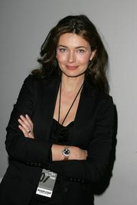 Paulina Porizkova at the Michon Schur Fall 2007 fashion show.