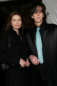 Paulina Porizkova and Ric Ocasek at the Michon Schur Fall 2007 Fashion show during the Mercedes-Benz Fashion Week.
