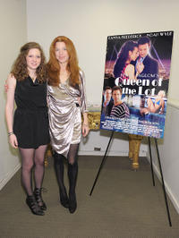 """Sabrina Jaglom and Tanna Frederick at the premiere of """"Queen of the Lot."""""""
