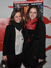 Sarah Blush and Sabrina Jaglom at the New York premiere of