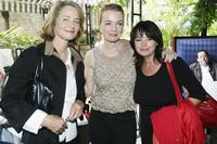 Charlotte Rampling, Karen Young and Louise Portal at the Unifrance Press lunch.