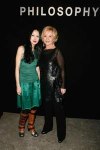 Mika Nakashima and Alberta Ferretti at the Philosophy Di Alberta Ferretti Presentation during the Mercedes-Benz Fashion Week 2009.