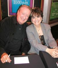 Tom Poston and Suzanne Pleshette at the book signing for