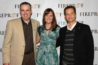 Alex Kendrick, Erin Bethea and Kirk Cameron at the California premiere of