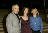 Dennis Hopper, Victoria and Henry Hopper at the Walt Disney Concert Hall opening gala in California.