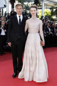 Henry Hopper and Mia Wasikowska at the red carpet of the premiere of