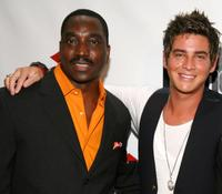 Clifton Powell and Trevor Wright at the opening night of New York International Latino Film Festival.