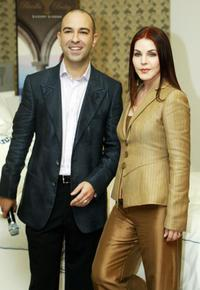Bruno Schiavi and Priscilla Presley at the launch of