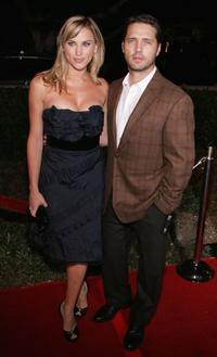 Jason Priestley and his wife Naomi Lowde at the premiere of