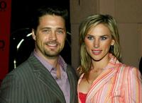 Jason Priestley and Naomi Lowde at the Hugo Boss Fall/Winter 2005 Collection Show.