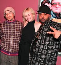 Cory Bowles, Lucy Decoutere and Tyrone Parsons at the premiere of