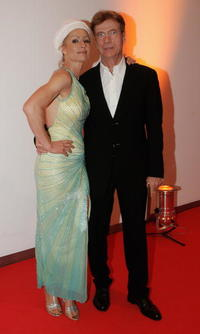 Juergen Prochnow and girlfreind Birgit Stein at the 42nd Goldene Kamera Award.