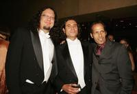 Penn Jillette, Paul Provenza and Peter Adam Golden at the after party of the premiere of