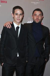 Emile Berling and Guillaume Gouix at the Cesar's Revelations 2013 in France.