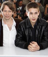 Mathieu Amalric and Emile Berling at the photocall of