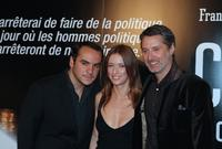 Francois-Xavier Demaison, Lea Drucker and Antoine de Caunes at the screening of