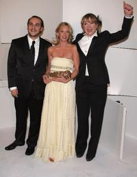 Francois-Xavier Demaison, Ludivine Saignier and Julie Depardieu at the Cesar Film Awards 2008.