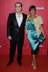 Francois-Xavier Demaison and Guest at the Cesar Film Awards 2009.